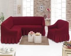 Чехол на угловой диван + Кресло DO&CO Бордо арт 8211м