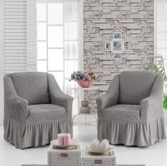 Чехол на 2 кресла Серый арт 8663