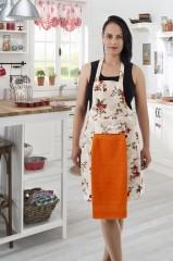 Фартук с полотенцем оранжевый