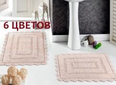 Коврики для ванной кружевные EVORA 60x100  50x70 арт5088