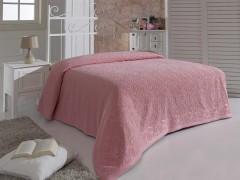 """Простынь махровая """"KARNA"""" ESRA 160x220 Розовый"""
