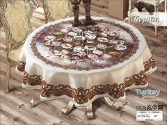 Скатерть VEROLLI NEPTUN круглая 160см №2068