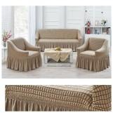 Набор чехлов на диван и кресла Juanna Koza арт9524 беж