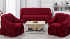 Набор чехлов на диван и кресла Juanna Koza арт9524 бордовый