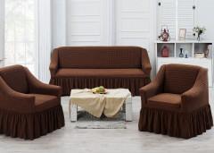 Набор чехлов на диван и кресла Juanna Koza арт9524 коричневый