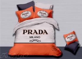 Постельное белье сатин евро Prada bb04-1