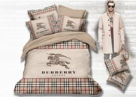 Постельное белье сатин евро Burberry BB04-7