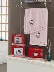 Набор полотенец хлопок Хэлло Китти розовый 8290-03
